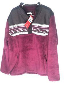 $229 Men's Spyder Wyre Half Snap Pullover Shirt Sweater Jacket Raisin Purple XL