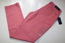 RALPH LAUREN ADIRONDACK BERRY PINK CLASSIC FIT CHINO TROUSERS PANTS W30 L34 LONG