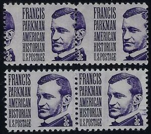 "1281 Misperf Error / EFO Pair ""Francis Parkman"" Mint NH"