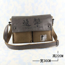Anime Attack on Titan wings pattern canvas backpack laptop message shoulder bag