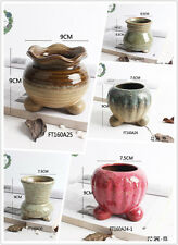 Handmade ceramic plant pots or planters for succulents, cacti and flower