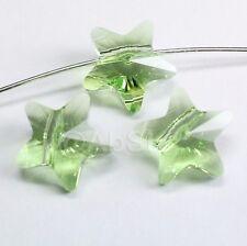 8 pieces Genuine Swarovski Element Crystal 5714 8mm Star Beads PERIDOT