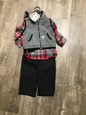 NWT Carhart Baby 3 Piece Outfit 6 Month