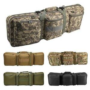 Double Rifle Military Tactical Gun Bag Shooting Hunting Carry Case Strap Bag Set