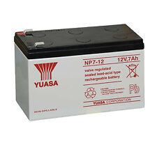 YUASA NP7-12 Batteria ermetica al piombo 12V 7Ah equivalente CSB1272 e SKB12-7,2