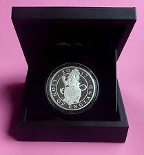2017 León bestias de la reina de Inglaterra £ 10 5oz Plata Prueba Moneda Caja y cert. de autenticidad