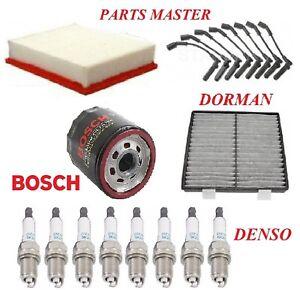 Tune Up Kit Filters Wire Plugs Fit GMC YUKON XL 1500 V8;5.3L;6.0L;6.2L 2007-2008