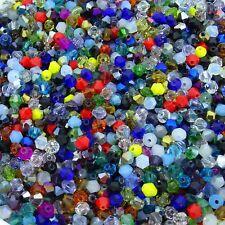 500 Abalorios de Cristal Tupis 4mm T372X  Perline Perlen Beads Bicone Crystals