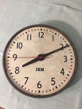 Vintage IBM Wall CLOCK Industrial Style Decor FACTORY Metal STEAM PUNK