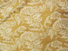 Pottery Barn Alessandra king duvet -gold white floral - Linen & cotton blend