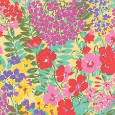 Moda Fabric - Regent Street - Ferns and Fauna - Buttercup - Cotton Lawn