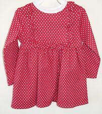 NIP Kelly's Kids Red/White Dot Ruffle Bib Paula Dress ~ Size 4-5 yr.