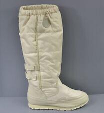Neu APART Damen Stiefel Winterstiefel Boots Gr.40 Warmfutter Nylon Leder creme