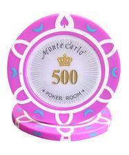 50pcs 14g Monte Carlo Poker Room Casino Poker Chips $500