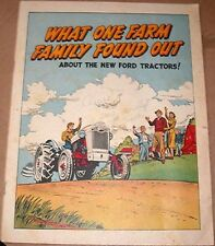 1955 FORD TRACTOR COMIC WHAT 1 FARM FAMILY FOUND OUT GIVEAWAY PROMO VF-