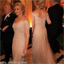 3/4 Sleeve Mother of The Bride Beaded Long Evening Dress Party Prom Formal Gown