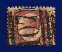 1874 SG49 ½d Rose Plate 12 G4 TG Bradford Good Used Cat £30 crhw