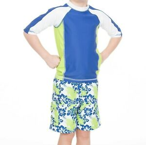 Cabana Life Little Boys 2 pc Set Rashguard
