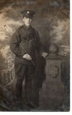 """Soldier, Studio Photograph"" (with ammunition pouch) by W.Wilkins,Hull, RP/PC"