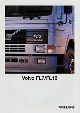Prospekt Volvo FL7 FL10 1992 Broschüre Lkw Nutzfahrzeug brochure broschyr truck