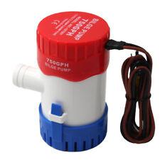 Pompe de cale marine 750GPH Pompe à eau submersible de bateau à moteur 12V