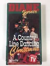 Diane Horner A Country Line Dancing Christmas VHS Factory Sealed As Seen on TV