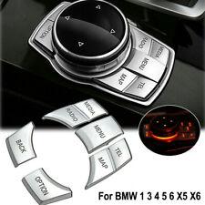 Car Chrome iDrive Multi Media Button Decor Trim Cover For BMW 1 3 4 5 6 X5 X6