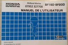Honda Midland Marine 888 Midland Marine 2019 French Manual