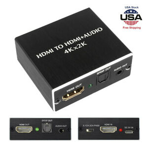 HDMI to HDMI +SPDIF 3D Optical Toslink Stereo Audio Splitter Extractor Converter