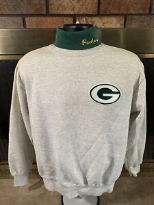 Vintage Green Bay Packers NFL FOOTBALL Crewneck Sweatshirt Medium Turtle Neck