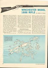 Vintage '67 2 pg art. 522 for Winchester Model 1886 Rifle with Exploded View
