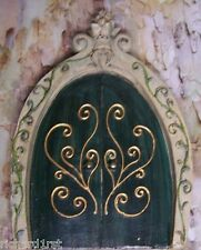 Tree Trunk Fairy & Gnome Door Vines garden fantasy decor NEW