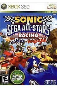 Sonic Sega All-Stars Racing+Banjo-Kazooie Xbox 360 Kids Game Brand New Hedgehog
