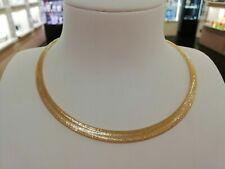 Collana girocollo in oro giallo 18kt 750% Altissima manifattura Italiana