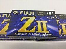 NEW Lot Of 5 Fuji ZII 90 Blank Cassette Tapes For CD IEC II/Type II High (CRo2)