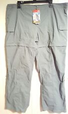 North Face Hybrid Cargo Convert Pants With Zip Off Shorts Women's: 20 (NWT) Grey
