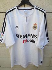 VINTAGE Maillot REAL MADRID camiseta ADIDAS shirt football maglia XL blanc