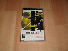 Metal Gear AC D 2 acid 2 Sony PSP PlayStation PAL España precintado