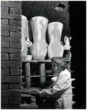 Marc Chagall Making Pottery by Philippe Halsman