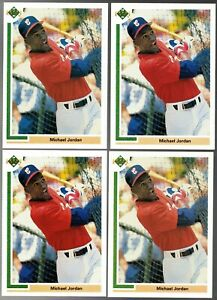 (4) 1991 Upper Deck Baseball #SP1 Michael Jordan Pre-Rookie Card Lot RC