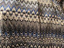 beau tissu jersey lycra fonds bleu/blanc  maillot vente au metre