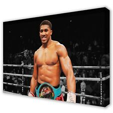 'AJ' ANTHONY JOSHUA Boxing Stretched Canvas Print Wall Art Photo ~ 5 Sizes BO06