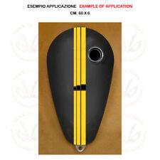 Adesivo serbatoio striscia pvc quadri giallo nero yellow sticker moto tank 1 pz.