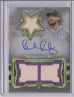 2020 Topps Triple Threads Baseball Brendan Rodgers Auto Relic Card # 69/99