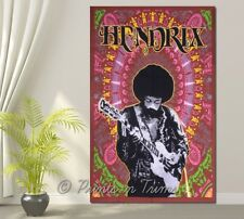 Jimi Hendrix Guitar Twin Wall Hanging Dorm Decor Gypsy Throw Hippie Tapestry
