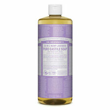 Dr Bronners Pure Castile Soap Liquid (Hemp 18-in-1) Lavender 946ml - vegan