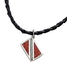 """Dive Flag Necklace 21""""Leather Cord, Pendant Scuba Diving Diver Jewelry GP7170"""