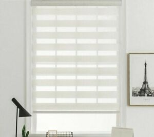 Modern Horizontal Window Shade Double Layer Roller Blind Customized Roller Blind