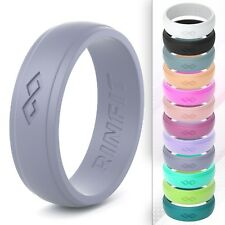Women's Silicone Wedding Ring by Rinfit - Soft & Comfortable rubber band
