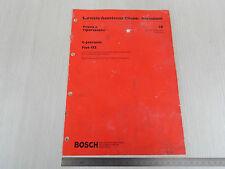 MANUALE RICERCA GUASTI BOSCH INIEZIONE L-JETRONIC FIAT 132 2000 iniezione el.